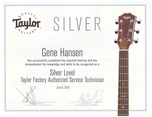 Gene Hanson: Taylor Factory Authorized Service Technician